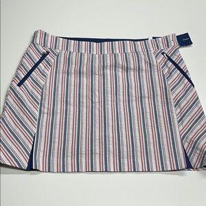IZOD GOLF Womens 14 Striped Skort